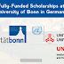 Apply: United Nations Scholarships at University of Bonn in Germany for Developing Countries, 2017