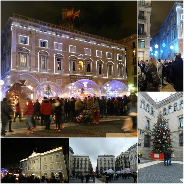 Mercados e decoração de Natal em Barcelona 2016 - Plaça Sant Jaume