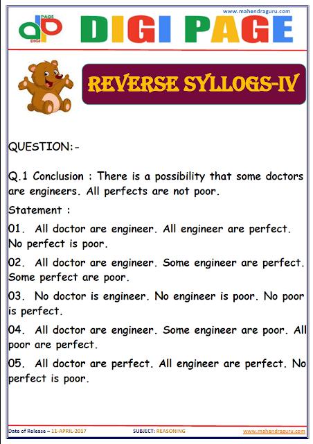 DP   REVERSE SYLLOGS   11 - APR - 17   IMPORTANT FOR SBI PO