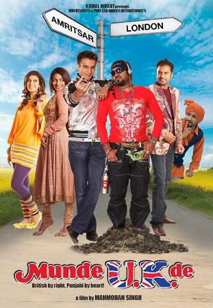 Poster Of Munde U K De 2009 Punjabi 400MB DVDRip 480p Free Download Watch Online