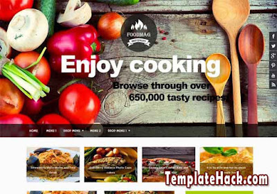 food mag blogger template
