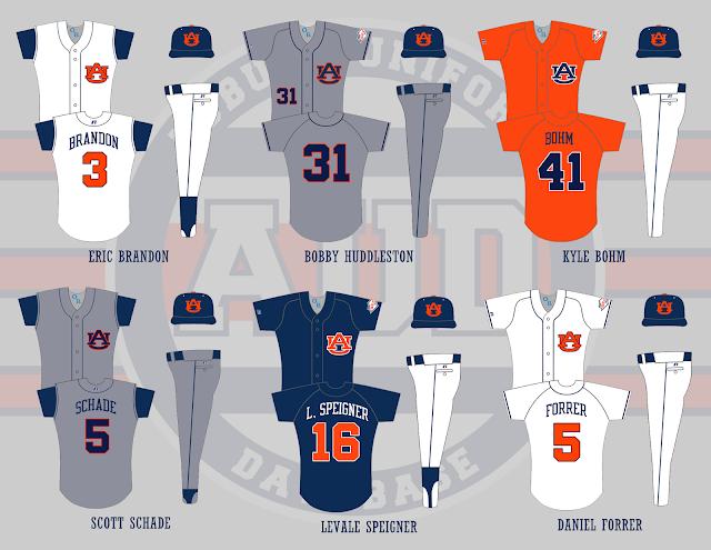 auburn baseball 2003 uniforms
