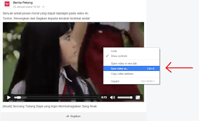 Langkah Cara Download Video dari Facebook Tanpa Software