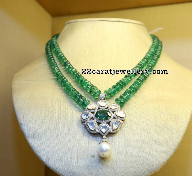 Emerald Beads Fancy Necklaces