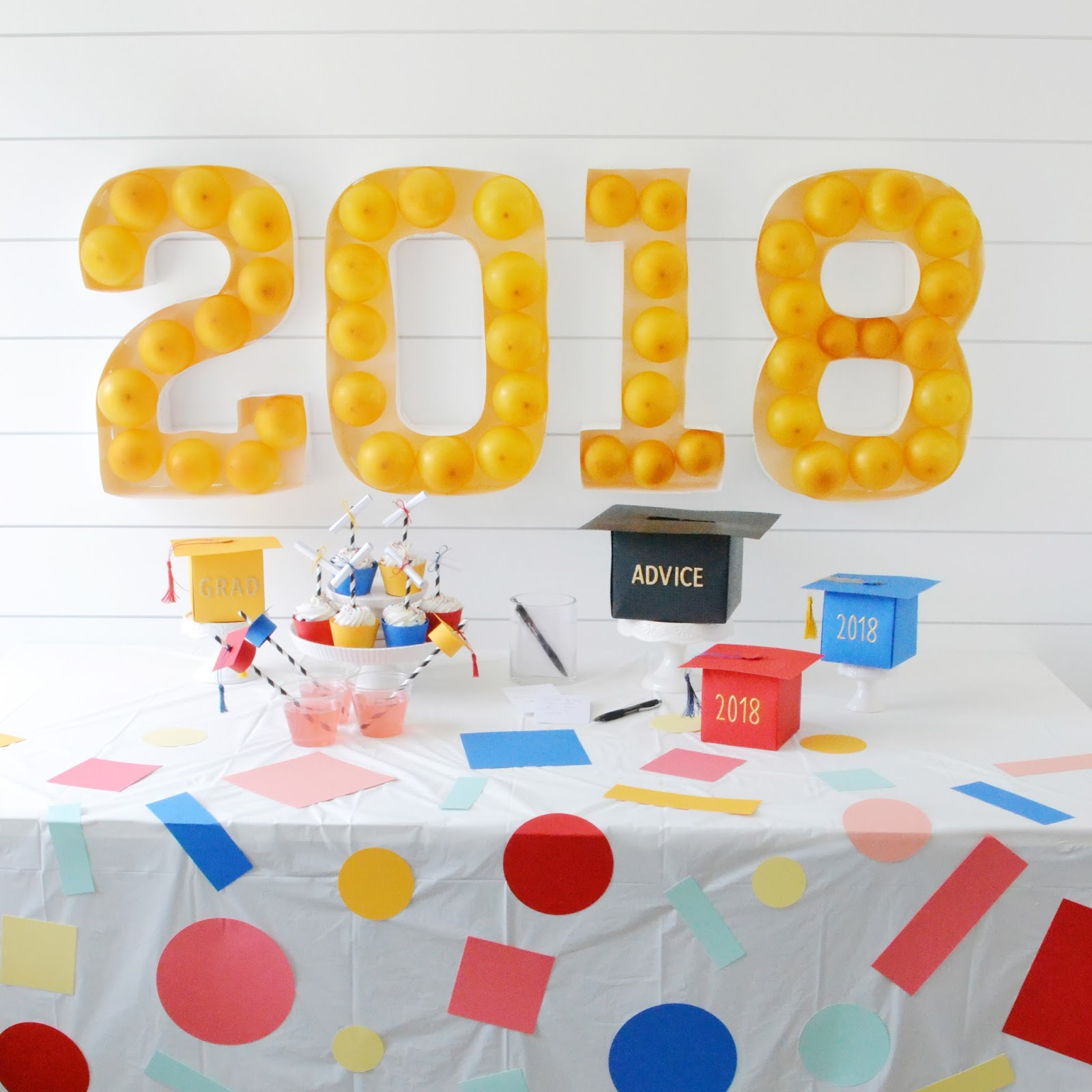 Aly Dosdall diy faux marquee sign for a graduation party
