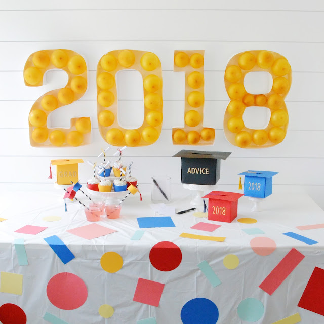 diy faux marquee sign for a graduation party