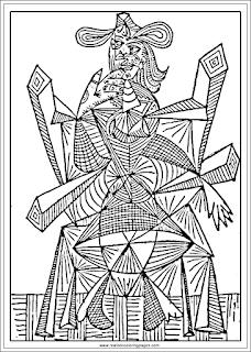 art of pablo picasso printable coloring pages for adults