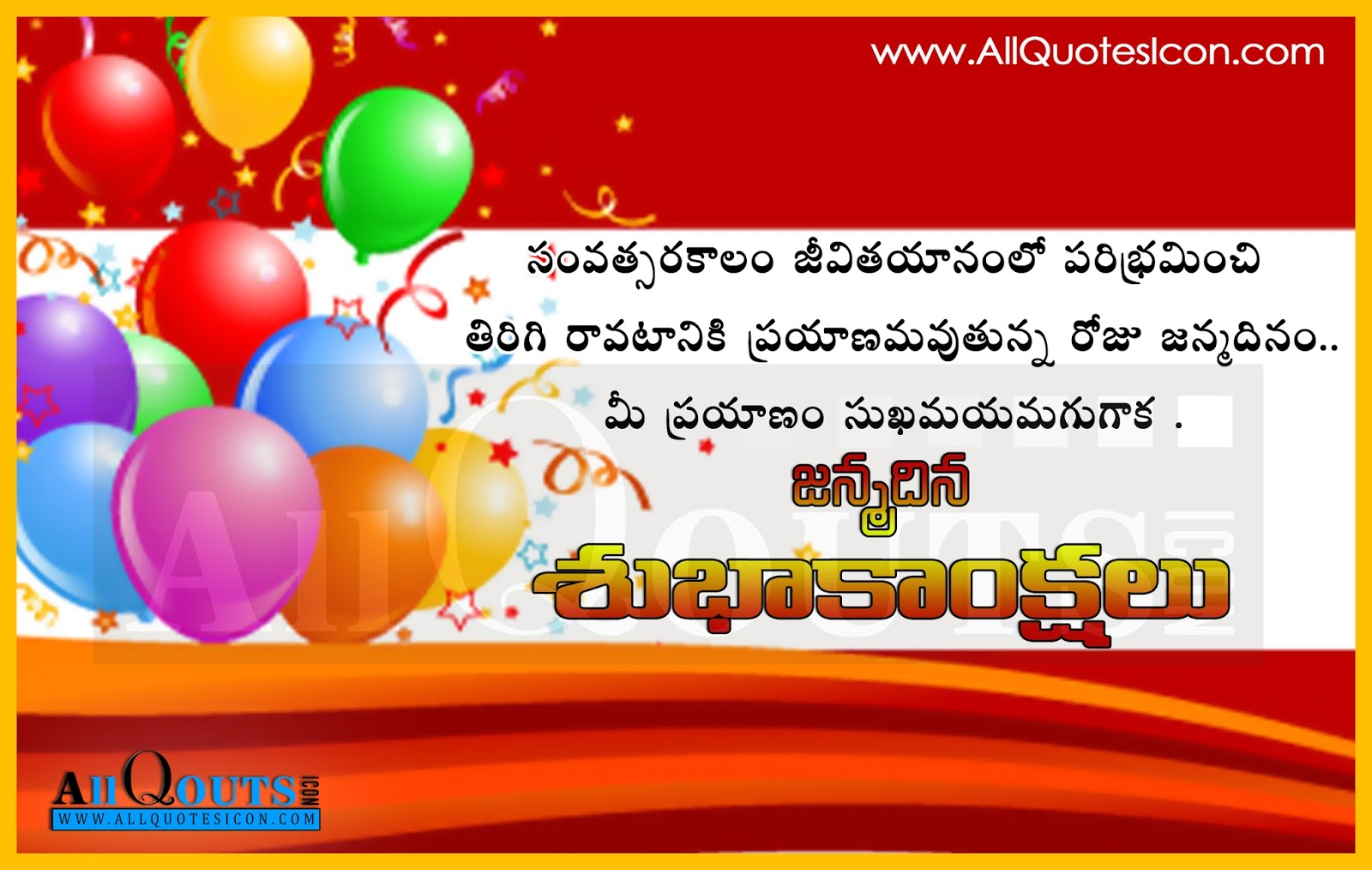Best Wishes and Sayings of Happy Birthday Greetings Telugu