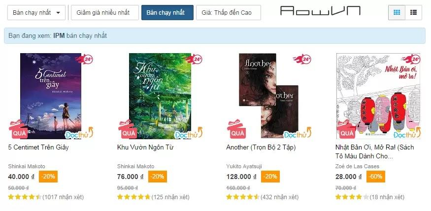 tiki aowvn6 - [ Hướng Dẫn ] Mua Light Novel , Manga nhanh , rẻ và đảm bảo với Tiki