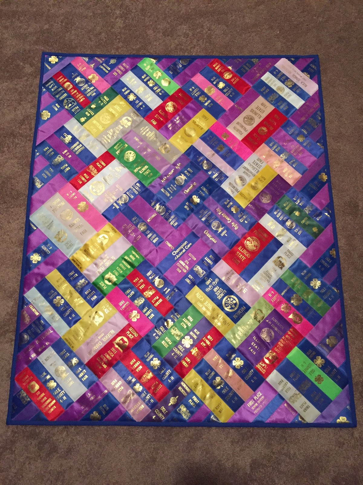 Carrie On The Prairie Emily S Ribbon Quilt