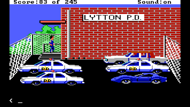 Screenshot from Police Quest 1 EGA