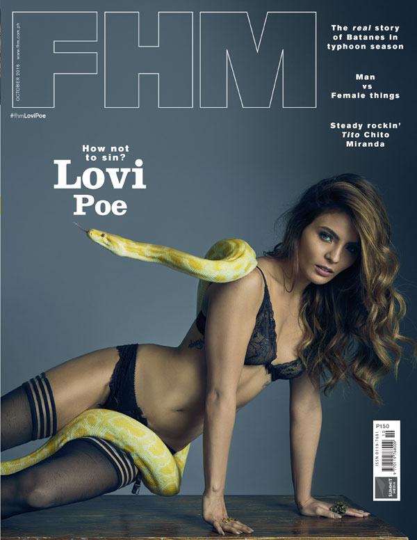 Lovi Poe on the cover of FHM October 2016