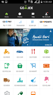 menu aplikasi go jek terbaru 2017