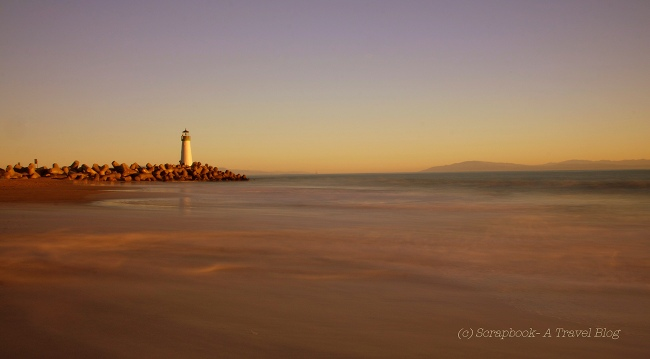 Walton Lighthouse Santa Cruz sunset