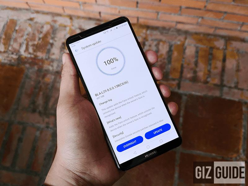 Huawei updates Mate 10 series, now has face unlock tech!