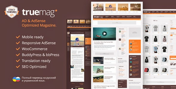 Truemag AD & AdSense Optimized Magazine - WordPress Themes