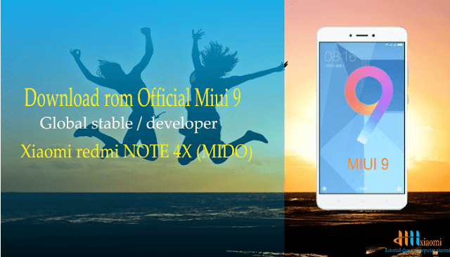 download rom official miui 9 global stable / developer xiaomi redmi Note  4X (MIDO)