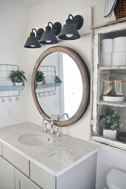 Mixed Metal bathroom