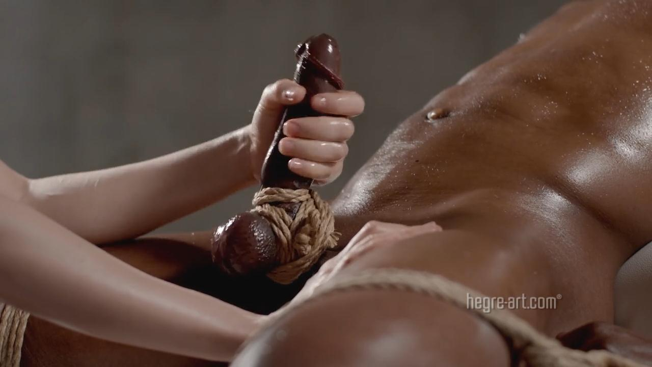 Hegre Art handjob The Art of Cock Control Massage - Hegre-Art - Interracial Oily Handjob  Tease in HD - [720p]