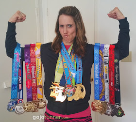 Wearing all 14 Disneyland race medals