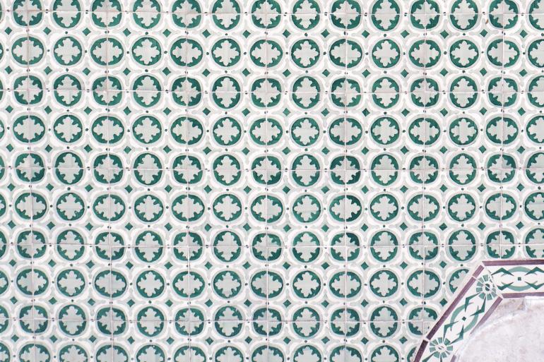 Façade décorée d'azulejos à Lisbonne