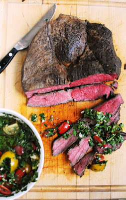 Sirloin Tip Roast with Parsley and Tomato Chimichurri
