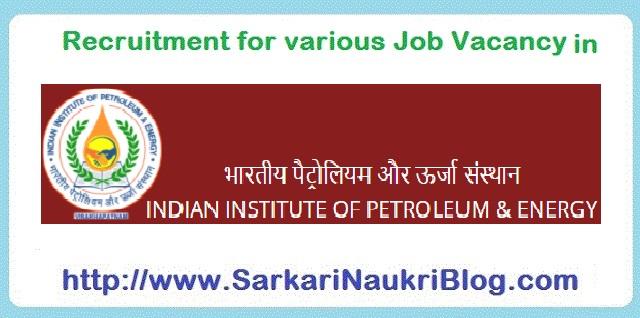 Naukri Vacancy Recruitment IIPE Visakhapatnam