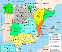 Gambar peta spanyol, Spanyol barcelona, Madrid