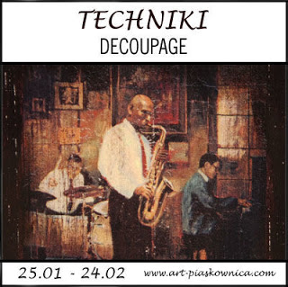 TECHNIKI%2Bdecoupage 01 - Skrzyneczka decoupage izakładka hafciarska - komplet zkróliczkiem