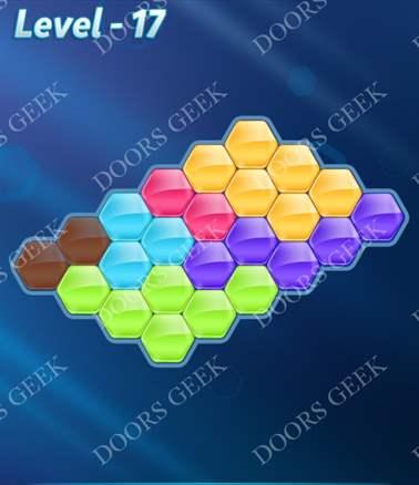 Block! Hexa Puzzle [6 Mania] Level 17 Solution, Cheats, Walkthrough for android, iphone, ipad, ipod