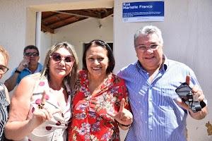 Prefeito Haroldo Ferreira prestigia governadora Fátima Bezerra em agenda na cidade de Apodi
