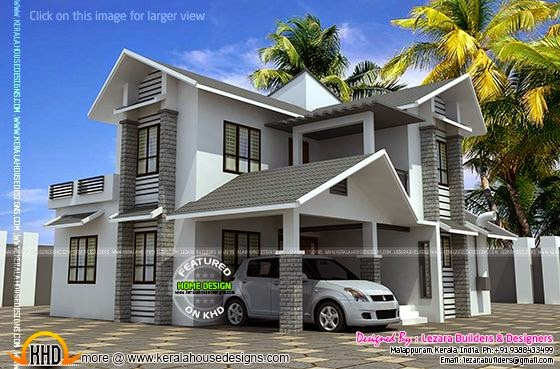 Sloping roof 1600 square feet