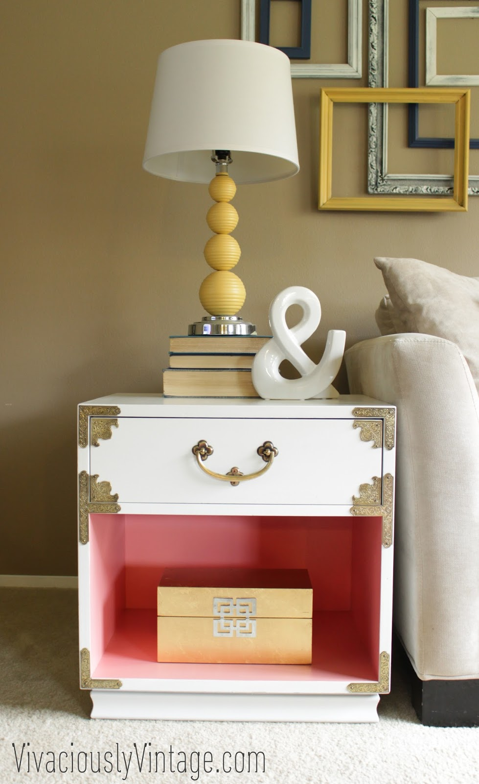 Vintage Campaign Nightstand