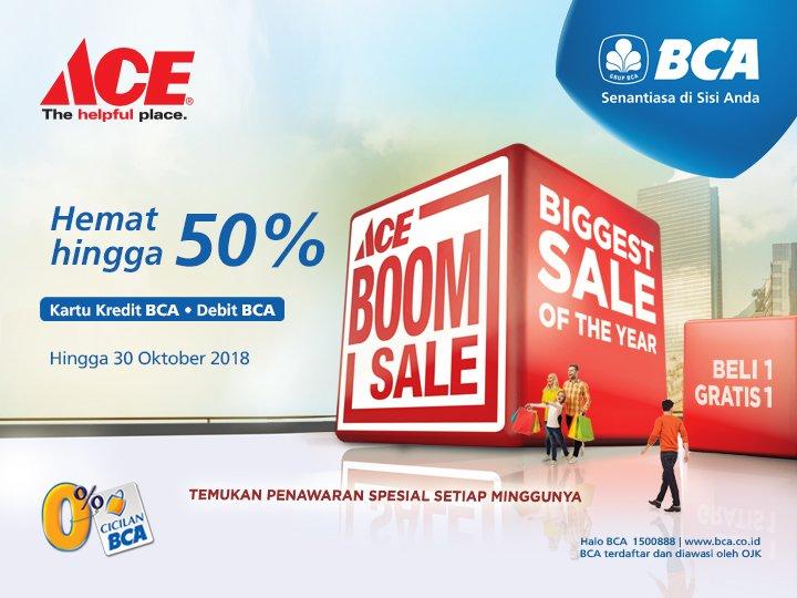 Bank BCA - Promo Hemat s.d 50% di AceHardware Pakai Kartu Kredit BCA atau Debit BCA