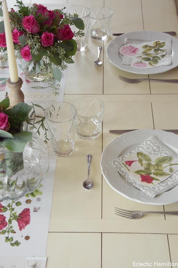 Botanische Tischdeko und Einblicke ins Esszimmer (das bald ganz ...