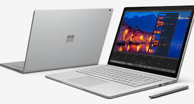 Side view of the Microsoft Surface Book 2