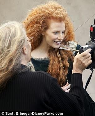 Jessica Chastain Disney Princess Merida Brave filmprincesses.filminspector.com