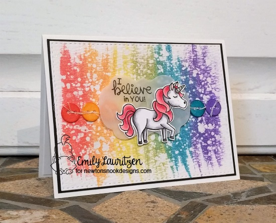 I believe in you by Emily features Believe in Unicorns by Newton's Nook Designs; #newtonsnook