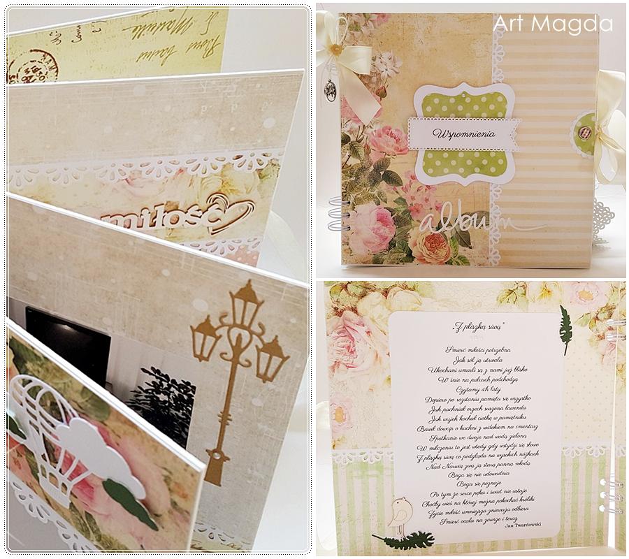 ArtMagda Handmade, albumy ręcznie robione, album wspomnień, na prezent, na rocznicę, z okazji urodzin