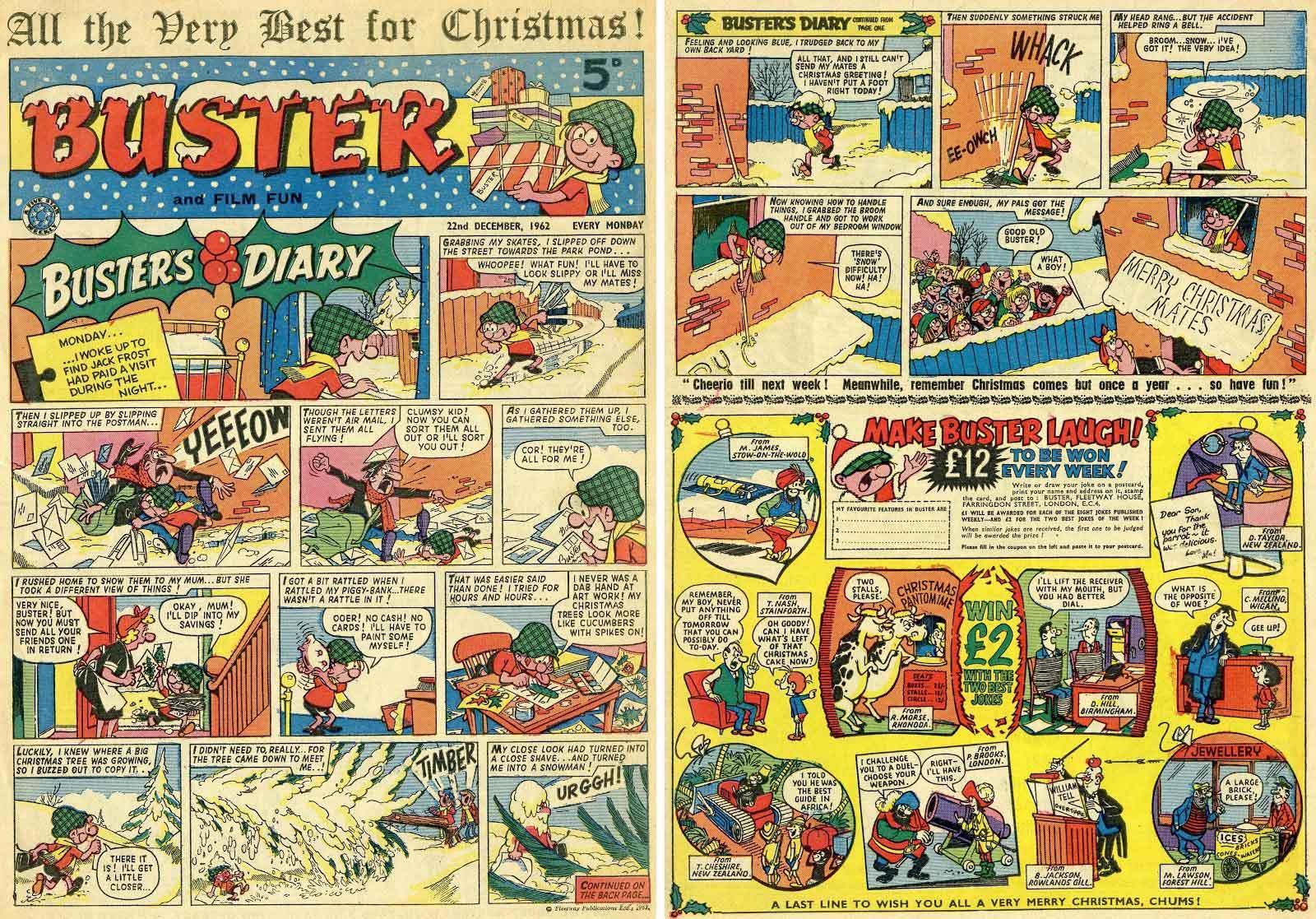 Doble página de buster dibujada por Nadal