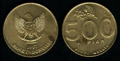 Indonesia 500 Rupiah (1997) Coin
