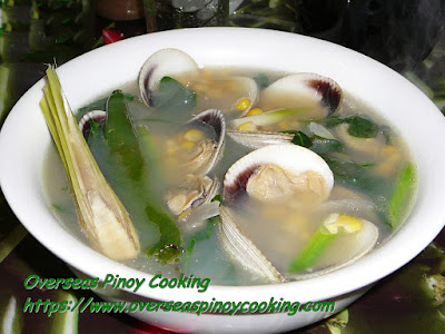 Clam and Corn in Ginger Soup