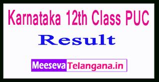 Karnataka 12th Class PUC Result 2017