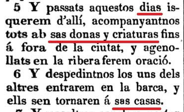 Busqueu llibres en catalá antic (no cal mol antic, només antes de Pompeyo Fabra) y sabreu com se díe aixó en catalá.