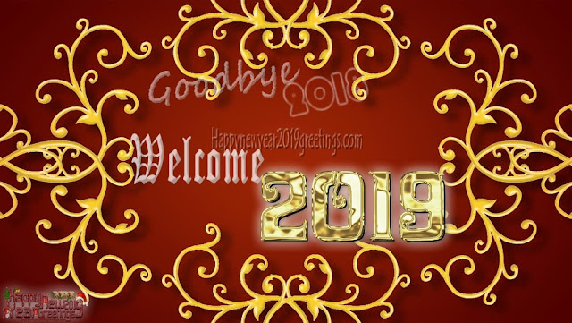 Goodbye 2018 Welcome Happy New year 2019 Pictures