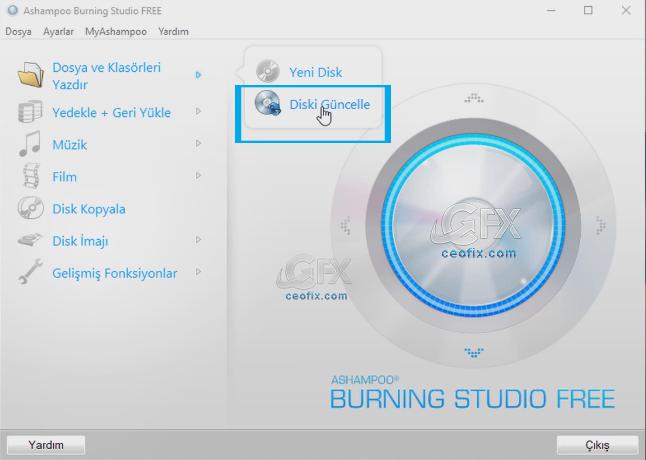 Ashampoo Burning Studio ücretsiz