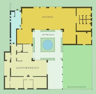 Atriumhaus mit Studio
