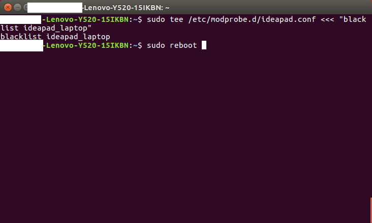 robotics & programming: Installing ubuntu on Legion Y520