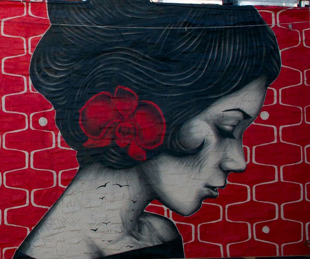 """Vroom Vroom"" Street Art Collaboration By Fin DAC and Angelina Chrtistina In Williamsburg, USA. 3"
