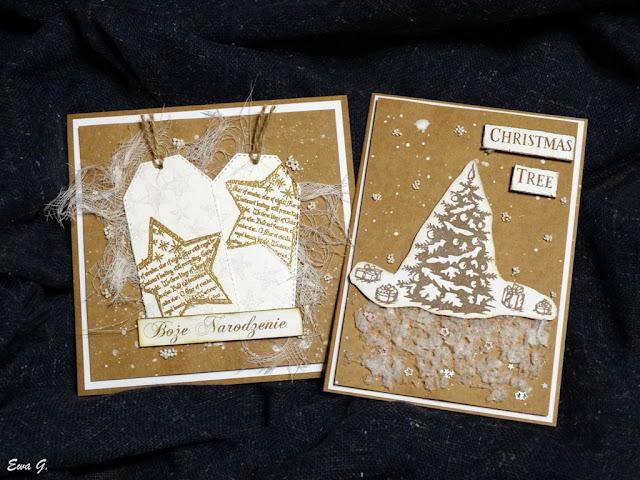 Grudniowe kartki bożonarodzeniowe oraz wymianka świąteczna